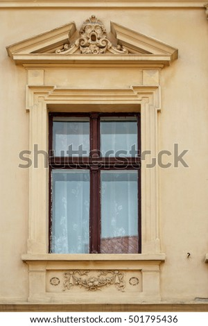 Classic pediment stock photos royalty free images for Exterior window pediments