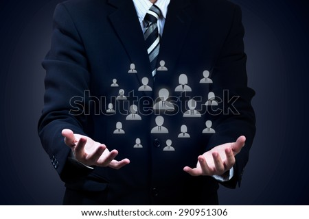 Customer care, labor union, life insurance, customer relationship management (CRM) and human resources concepts. - stock photo