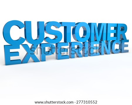 Customer Experience over white Background  - stock photo
