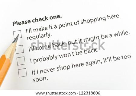 Customer feedback - stock photo