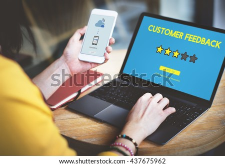 Customer Feedback Comment Vote Review Results Concept - stock photo
