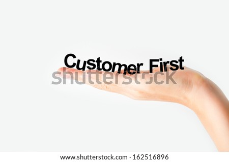 Customer first concept - stock photo