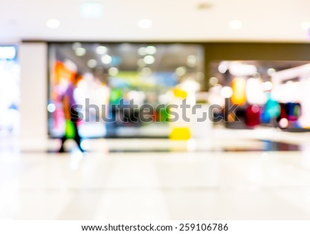 customer in store blur background with bokeh - stock photo