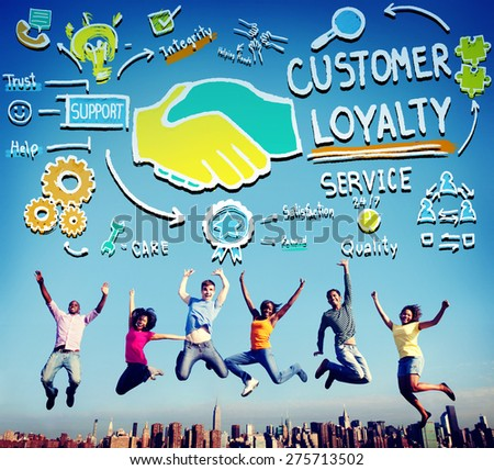 Customer Loyalty Satisfaction Support Strategy Service Concept - stock photo