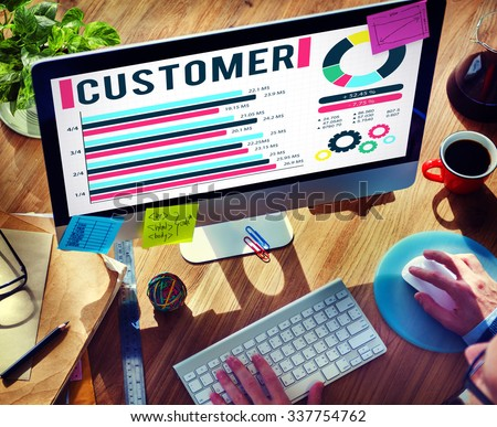 Customer Market Business Corporate Target Concept - stock photo