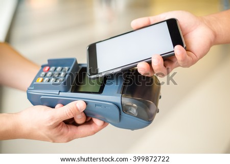 Customer pay by cellphone