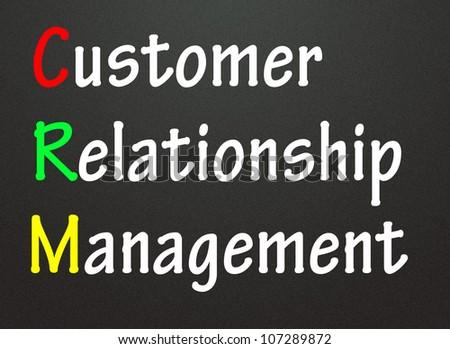 customer relation management symbol - stock photo