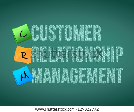 customer relationship management illustration design over a blackboard - stock photo