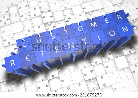 customer retention puzzle 3 d render illustration stock illustration