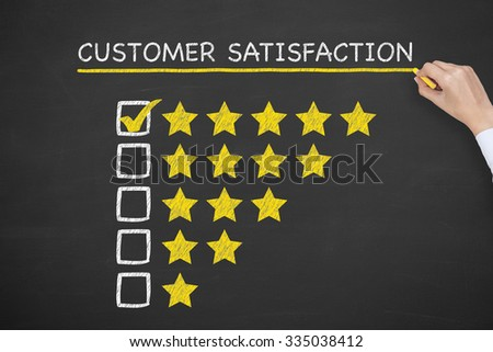Customer Satisfaction on Chalkboard