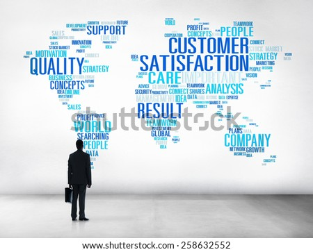 Customer Satisfaction Reliability Quality Service Concept - stock photo