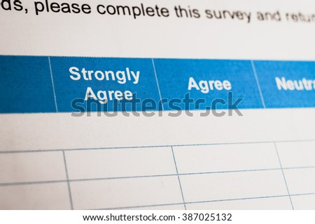 Customer satisfaction survey checkbox with rating, can use any business concept - stock photo