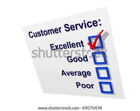 Customer satisfaction survey with excellent rating - stock photo