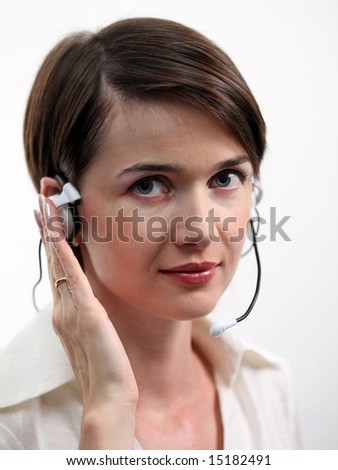 CUSTOMER SERVICE AGENT on white background