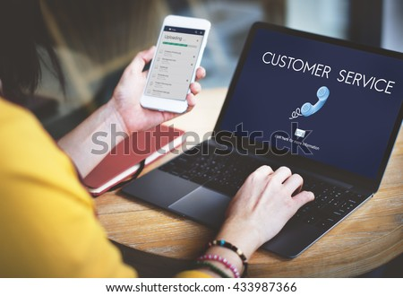 Customer Service Assistance Satisfaction Concept - stock photo