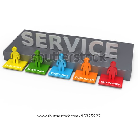 Customer service concept - stock photo