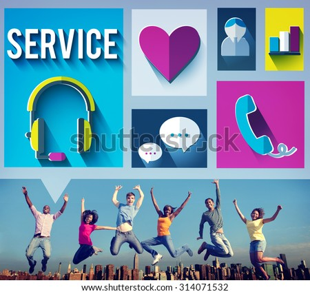 Customer Service Consultant Hospitality Care Concept - stock photo