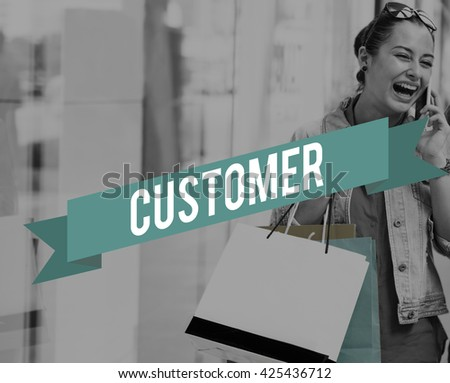 Customer Service Goods Buyer Concept - stock photo