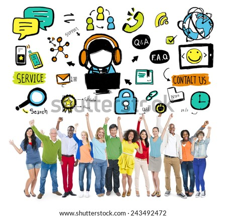 Customer Service Help Business Service Solution Support Concept - stock photo