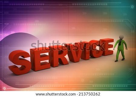 customer service representative - stock photo