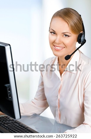 Customer Service Representative. Service with a smile - #7 - stock photo