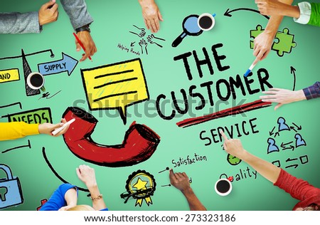 Customer Service Support Solution Assistance Aid Concept - stock photo