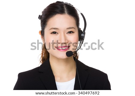 Customer services assistant - stock photo