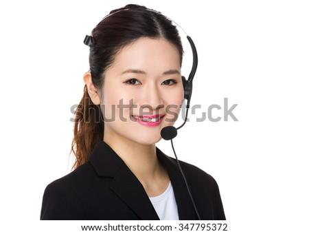 Customer services consultant - stock photo