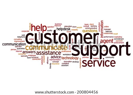 Customer support concept word cloud background - stock photo