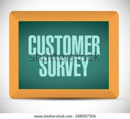 customer survey message illustration design over a white background - stock photo