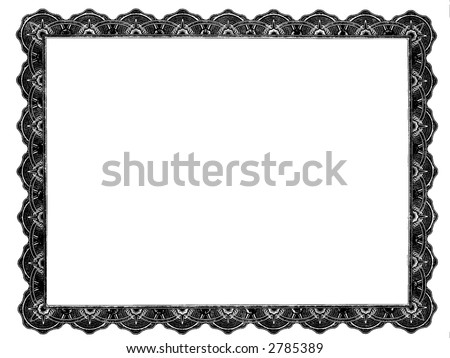 Customizable Blank Certificate Frame - stock photo