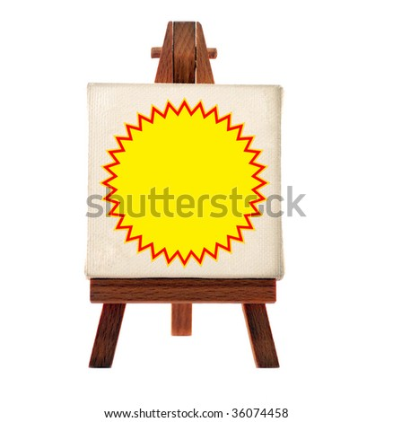 customizable blank easel - stock photo