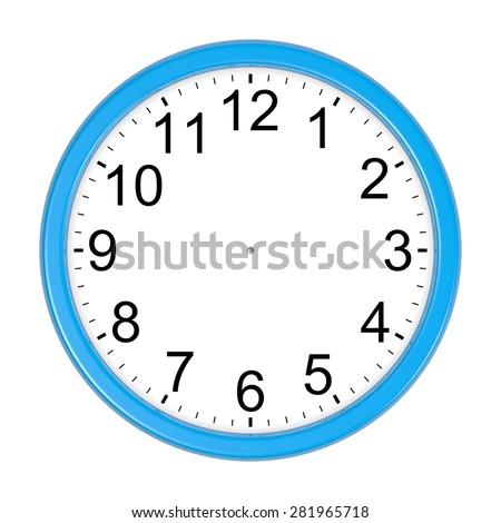 customizable blue round wall clock isolated stock illustration rh shutterstock com Cartoon Clock Clip Art Funny Clock Face Clip Art