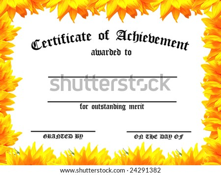 customizable certificate