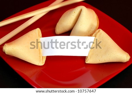 Customizable Fortune Cookie - stock photo