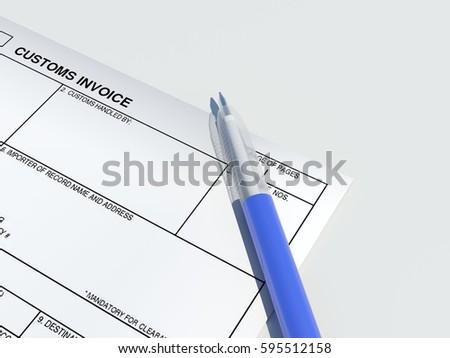 blank customs invoice