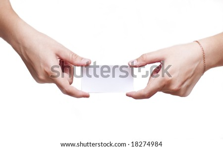 cut-away and two hand - stock photo
