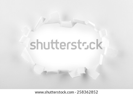 Cut Or Torn Paper, Borders, Tearing. - stock photo