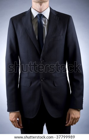 cut out image of a businessman in suit - stock photo