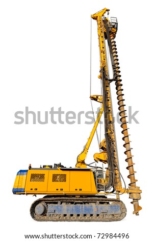 Cut-out of a hydraulic drilling machine as used in the construction industry - stock photo