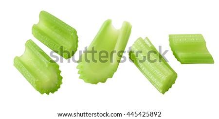 cut stems of celery - stock photo