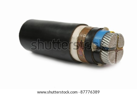 cut way under ground cable