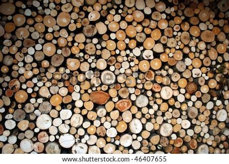 cut wood, firewood texture - stock photo