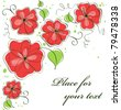Cute abstract flower card  background. illustration - stock photo