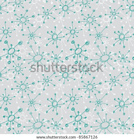 cute abstract seamless pattern - stock photo
