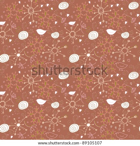 cute abstract seamless pattern in jpg - stock photo