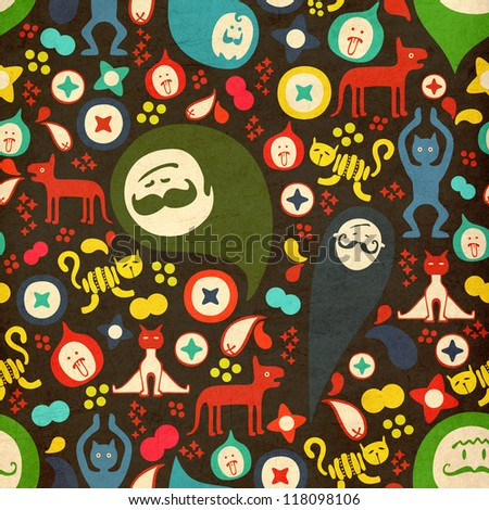 Cute abstract seamless texture. Vector colorful pattern for you background. - stock photo