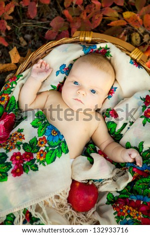 Cute adorable baby girl smiling - stock photo