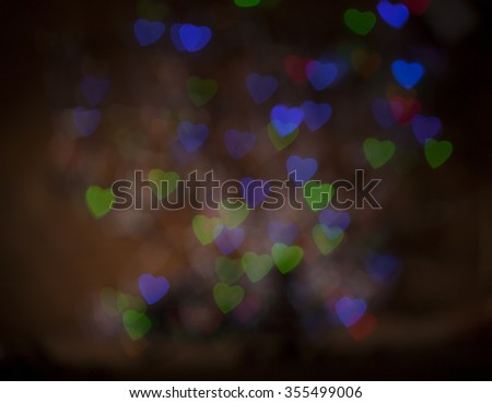 Cute and fresh colorful heart bokeh and glitter or sparkle background  - stock photo
