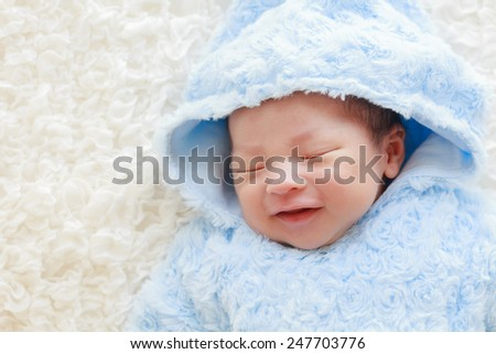 cute asian baby,infant - stock photo
